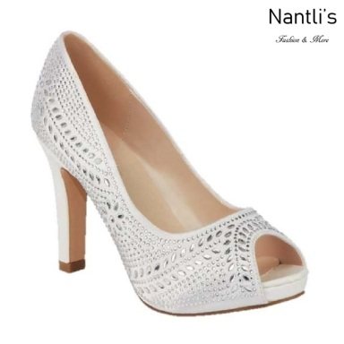 BL-Jonny-14B White Zapatos de novia Mayoreo Wholesale Women Heels Shoes Nantlis Bridal shoes