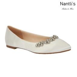 BL-Kitty-20 Ivory Zapatos de Novia Mayoreo Wholesale Women flats Shoes Nantlis Bridal shoes