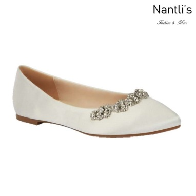 BL-Kitty-20 Ivory Zapatos de Novia Mayoreo Wholesale Women flats Shoes Nantlis Bridal shoes