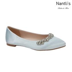 BL-Kitty-20 LIght Blue Zapatos de Novia Mayoreo Wholesale Women flats Shoes Nantlis Bridal shoes