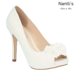 BL-Lavinia-1B White Zapatos de novia Mayoreo Wholesale Women Heels Shoes Nantlis Bridal shoes
