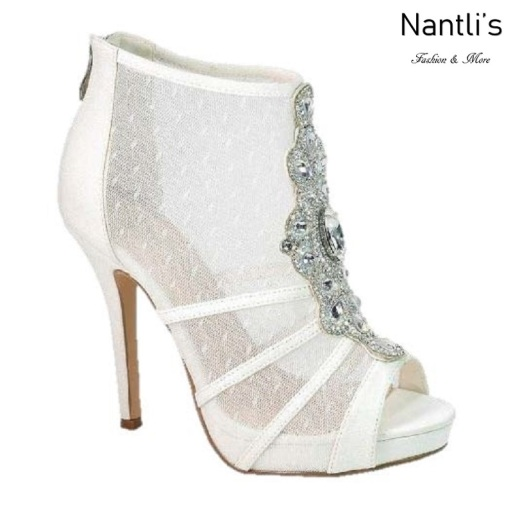 BL-Marna-103B White Zapatos de novia Mayoreo Wholesale Women Heels Shoes Nantlis Bridal shoes