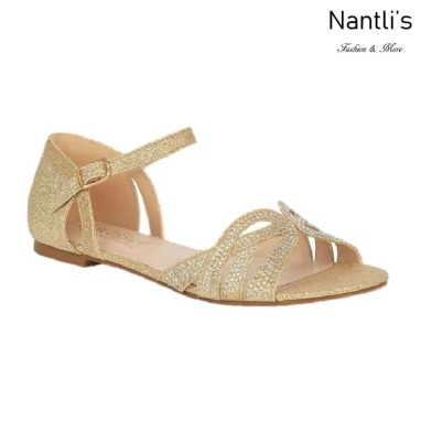 BL-Melody-1 Gold Zapatos de novia Mayoreo Wholesale Women Sandals Shoes Nantlis Bridal shoes