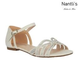 BL-Melody-1 White Zapatos de novia Mayoreo Wholesale Women Sandals Shoes Nantlis Bridal shoes