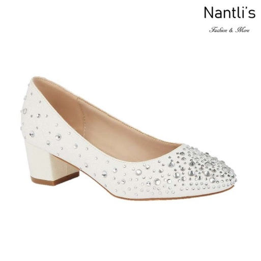 BL-Olivia-23B White Zapatos de novia Mayoreo Wholesale Women Heels Shoes Nantlis Bridal shoes