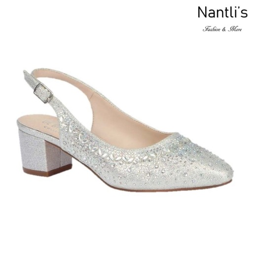BL-Olivia-30 Silver Zapatos de novia Mayoreo Wholesale Women Heels Shoes Nantlis Bridal shoes