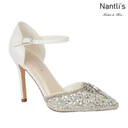BL-Reese-1B White Zapatos de novia Mayoreo Wholesale Women Heels Shoes Nantlis Bridal shoes