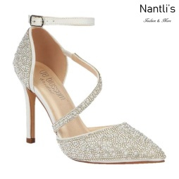 BL-Reese-5B White Zapatos de novia Mayoreo Wholesale Women Heels Shoes Nantlis Bridal shoes