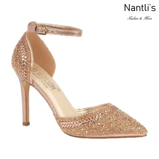 BL-Renzo-126 Rose Gold Zapatos de novia Mayoreo Wholesale Women Heels Shoes Nantlis Bridal shoes