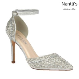 BL-Renzo-126 Silver Zapatos de novia Mayoreo Wholesale Women Heels Shoes Nantlis Bridal shoes