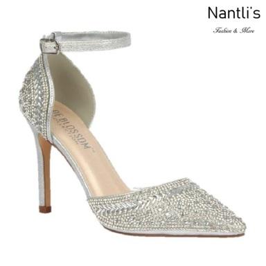 BL-Renzo-126 Silver Zapatos de novia Mayoreo Wholesale Women Heels Shoes Nantlis Bridal shoes