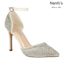 BL-Renzo-126B White Zapatos de novia Mayoreo Wholesale Women Heels Shoes Nantlis Bridal shoes