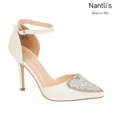 BL-Renzo-49B Ivory Zapatos de novia Mayoreo Wholesale Women Heels Shoes Nantlis Bridal shoes