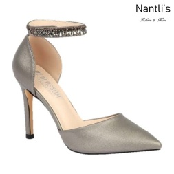 BL-Renzo-65 Pewter Zapatos de novia Mayoreo Wholesale Women Heels Shoes Nantlis Bridal shoes