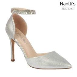 BL-Renzo-65 Silver Zapatos de novia Mayoreo Wholesale Women Heels Shoes Nantlis Bridal shoes