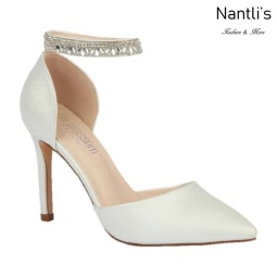 BL-Renzo-65B White Zapatos de novia Mayoreo Wholesale Women Heels Shoes Nantlis Bridal shoes