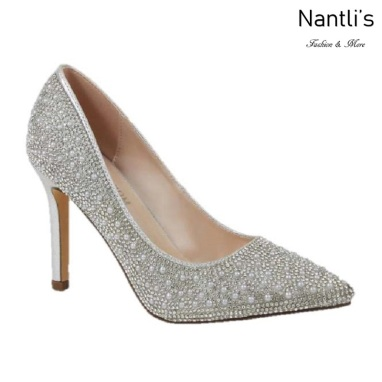BL-Renzo-73 Silver Zapatos de novia Mayoreo Wholesale Women Heels Shoes Nantlis Bridal shoes