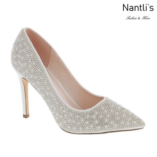 BL-Renzo-73 White Zapatos de novia Mayoreo Wholesale Women Heels Shoes Nantlis Bridal shoes