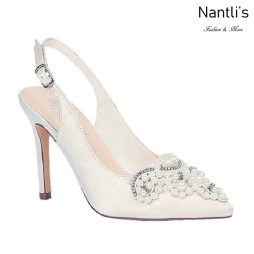 BL-Vinci-1B Ivory Satin Zapatos de novia Mayoreo Wholesale Women Heels Shoes Nantlis Bridal shoes