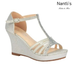 BL-Winni-111 Silver Zapatos de novia Mayoreo Wholesale Women Wedges Shoes Nantlis Bridal shoes