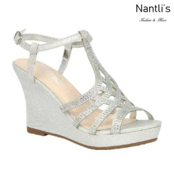 BL-Winni-21 Silver Zapatos de novia Mayoreo Wholesale Women Wedges Shoes Nantlis Bridal shoes