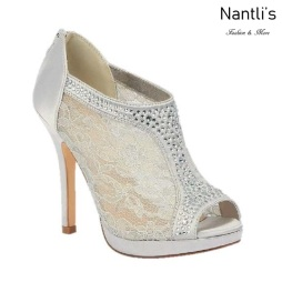 BL-Yael-9 Silver Zapatos de novia Mayoreo Wholesale Women Heels Shoes Nantlis Bridal shoes