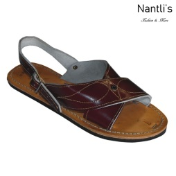 Huaraches Mayoreo BA-cruzado vino Huaraches de hombre Leather Mexican sandals for men Nantlis Tradicion de Mexico