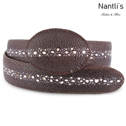 Cintos Mayoreo BAC2102 Stingray Brown Cinto Vaquero Western Belt Nantlis Tradicion de Mexico