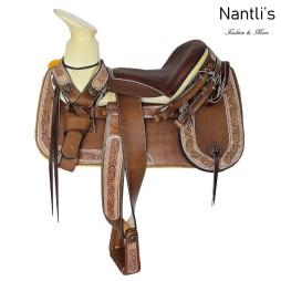 TM-62242 Silla de montar para caballo montura charra Mayoreo Wholesale Mexican horse Saddle Nantlis Tradicion de Mexico
