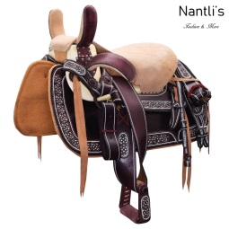 TM-WD1069 Silla de montar para caballo montura charra Mayoreo Wholesale Mexican horse Saddle Nantlis Tradicion de Mexico
