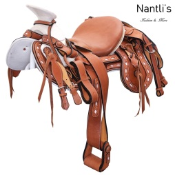 TM-WD1083 Silla de montar juvenil para caballo montura charra Mayoreo Wholesale Mexican horse Saddle Nantlis Tradicion de Mexico