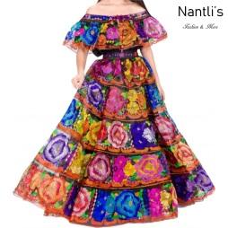 Traje tipico Mexicano Mayoreo TM34305 Vestido Tipico Chiapas gala chiapaneca Vuelo normal Nantlis Tradicion de Mexico