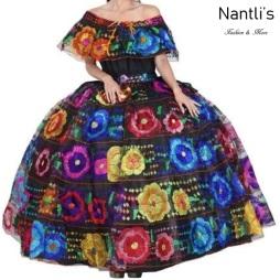 Traje tipico Mexicano Mayoreo TM34310 Vestido Tipico Chiapas gala chiapaneca profesional Doble Vuelo Nantlis Tradicion de Mexico