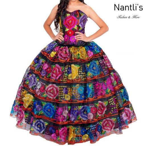 Traje tipico Mexicano Mayoreo TM34312 Vestido Tipico Chiapas gala chiapaneca Quinceanera Tradicion de Mexico