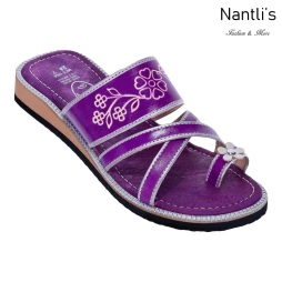 Huaraches Mayoreo TM35104 Purple Huaraches Mexicanos de Mujer Women Mexican Sandals Nantlis Tradicion de Mexico