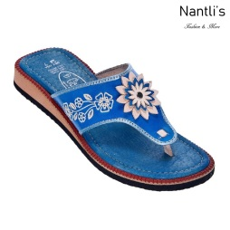 Huaraches Mayoreo TM35116 Blue Huaraches Mexicanos de Mujer Women Mexican Sandals Nantlis Tradicion de Mexico