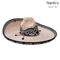 Sombrero Charro Mayoreo TM71123 Black Sombrero Charro de paja Galoneado Nantlis Tradicion de Mexico