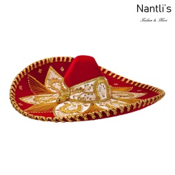 Sombrero Charro Mayoreo TM71150 Red-Gold Sombrero Charro Nantlis Tradicion de Mexico