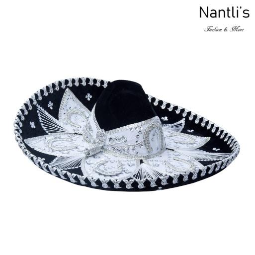 Sombrero Charro Mayoreo TM71158 Black-Silver Sombrero Charro Nantlis Tradicion de Mexico