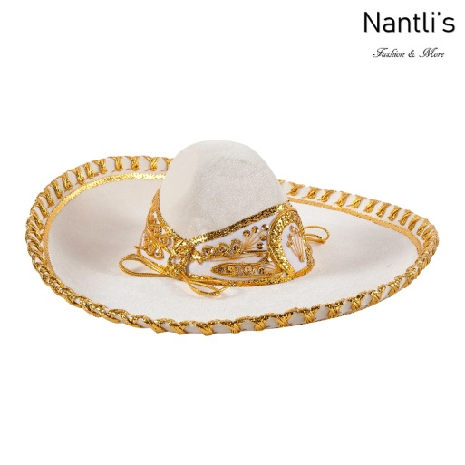 Sombrero Charro Mayoreo TM71254 Beige-Gold Sombrero Charro Nino Nantlis Tradicion de Mexico