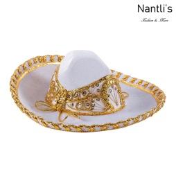 Sombrero Charro Mayoreo TM71255 White-Gold Sombrero Charro Nino Nantlis Tradicion de Mexico
