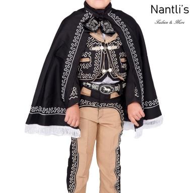 Traje de Charro Mayoreo TM72105 Black-White Capa de Traje de Charro nino Nantlis Tradicion de Mexico