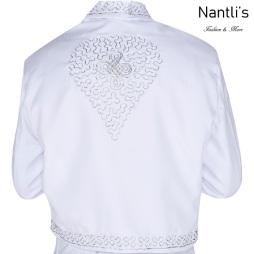 Traje de Charro Mayoreo TM72142 White-silver Traje de Charro Embroidery Rear View Nantlis Tradicion de Mexico