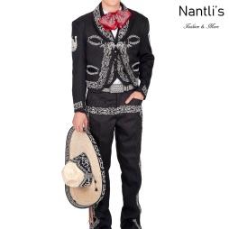 Traje de Charro Mayoreo TM72175 Black-White Traje de Charro completo Nantlis Tradicion de Mexico