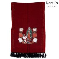 Rebozos Mayoreo TM73421 Red Rebozo Mexicano Estampado de Virgen de Guadalupe Mexican Shawl 68x25 Nantlis Tradicion de Mexico