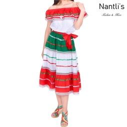 Traje tipico Mexicano Mayoreo TM74116 Vestido patrio mujeres Mexican patriotic womens dress Nantlis Tradicion de Mexico