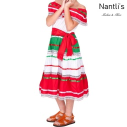 Traje tipico Mexicano Mayoreo TM74126 Vestido patrio ninas Mexican patriotic girls dress Nantlis Tradicion de Mexico