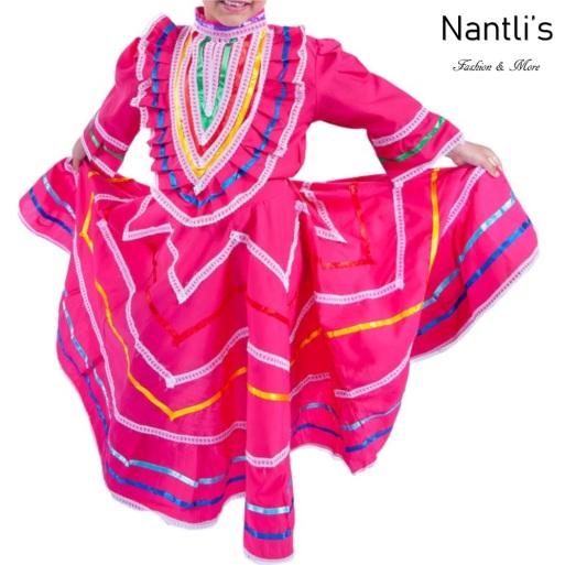 Traje tipico Mexicano Mayoreo TM74141 Fuchsia Vestido Folklorico estilo Jalisco mujeres y ninas women and girls Nantlis Tradicion de Mexico