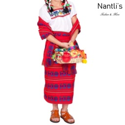 Traje tipico Mexicano Mayoreo TM74213 red Traje tipico de indita ninas Typical girls Mexican Dress Nantlis Tradicion de Mexico