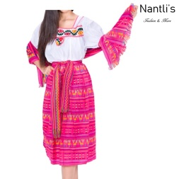 Traje tipico Mexicano Mayoreo TM74223 fuchsia Traje tipico de indita Mujer Typical Women Mexican Dress Nantlis Tradicion de Mexico